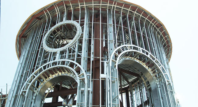 curved metal framing gallery